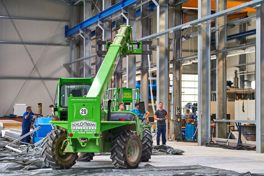 Erweiterungsbau bei laufenden Betrieb