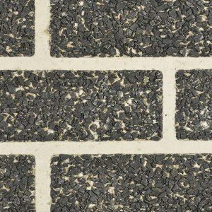 Verblenderoptik SPLIT schwarz/ grau-verfugt